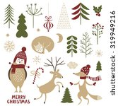 christmas illustrations. set of ... | Shutterstock .eps vector #319949216