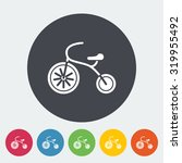 tricycle icon. flat vector... | Shutterstock .eps vector #319955492