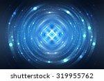 abstract fractal blue... | Shutterstock . vector #319955762