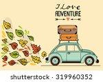 autumn vector illustration.... | Shutterstock .eps vector #319960352