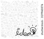 idea hand drawn on business... | Shutterstock .eps vector #319960376