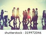 business people commuter... | Shutterstock . vector #319972046