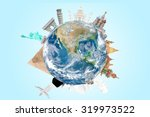 travel around the world concept ... | Shutterstock . vector #319973522