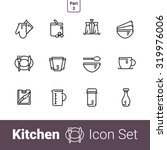 kitchen devices outline icon... | Shutterstock .eps vector #319976006