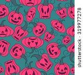 seamless halloween pattern ... | Shutterstock .eps vector #319977278