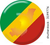 congo map and flag | Shutterstock .eps vector #3199776