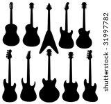 vector isolated guitars...   Shutterstock .eps vector #31997782