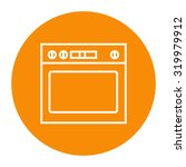 oven linear icon. | Shutterstock .eps vector #319979912