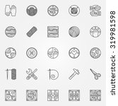 hand made icons   vector set of ...