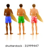 group of young men with boards...   Shutterstock .eps vector #31999447
