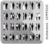 mans and womans silhouettes... | Shutterstock .eps vector #319995242