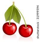 illustration of cherries | Shutterstock .eps vector #31999594