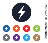 thunder vector icon for web and ...   Shutterstock .eps vector #319998752