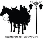 Horse And Carriage Silhouette   ...