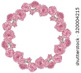 floral round frame. | Shutterstock .eps vector #320004215