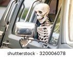 scary human skeleton figure...   Shutterstock . vector #320006078