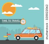 vacation travelling concept.... | Shutterstock .eps vector #320022062