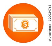 money banknotes stack icon. | Shutterstock .eps vector #320024768