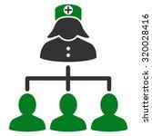 nurse patients vector icon.... | Shutterstock .eps vector #320028416