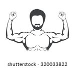 gym concept with fitness icons  ...   Shutterstock .eps vector #320033822