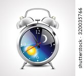 alarm clock   day to night  | Shutterstock .eps vector #320035766