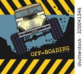 off road vehicle  vector... | Shutterstock .eps vector #320041346
