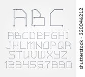 Circuit Board Form Letters Numbers Vector Stock Photo (Photo, Vector ...