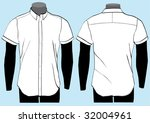 shirt template with front and... | Shutterstock .eps vector #32004961