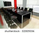 modern room for meetings 3d... | Shutterstock . vector #32005036