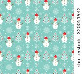 vector seamless christmas... | Shutterstock .eps vector #320051942
