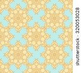 geometric flower pattern gesign.... | Shutterstock .eps vector #320053028