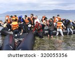 lesvos  greece september 24 ... | Shutterstock . vector #320055356