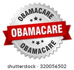 obamacare 3d silver badge with... | Shutterstock .eps vector #320056502