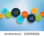 business background with icons... | Shutterstock .eps vector #320058686