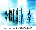 handshake business people team... | Shutterstock . vector #320064665