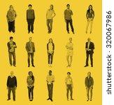 diverse people happiness... | Shutterstock . vector #320067986