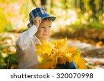 autumn  boy | Shutterstock . vector #320070998