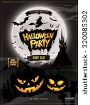 halloween party. vector... | Shutterstock .eps vector #320085302