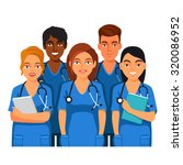 group of medical students or... | Shutterstock .eps vector #320086952