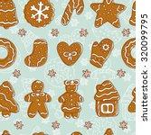 doodles christmas cookies.... | Shutterstock .eps vector #320099795