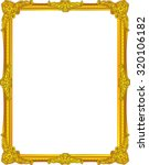 gold photo frame with corner... | Shutterstock .eps vector #320106182