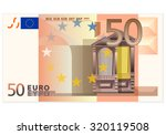 fifty euro banknote on a white... | Shutterstock .eps vector #320119508