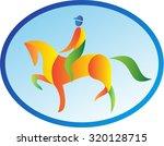 illustration of an equestrian...   Shutterstock . vector #320128715