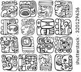 vector set of mayan and aztec...   Shutterstock .eps vector #320129636