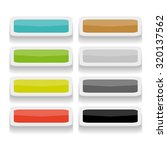 set of long square buttons | Shutterstock .eps vector #320137562