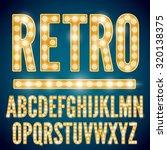 realistic vector lamps alphabet ... | Shutterstock .eps vector #320138375