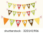 cute thanksgiving bunting flags ... | Shutterstock .eps vector #320141906