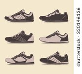 casual shoes  retro shoes.... | Shutterstock .eps vector #320146136