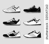 running shoes  retro shoes.... | Shutterstock .eps vector #320147162