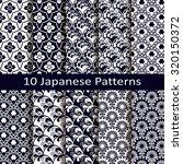 set of ten japanese patterns | Shutterstock .eps vector #320150372